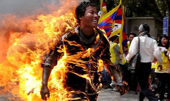 La protesta tibetana